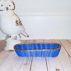 Gold & Blue oval basket